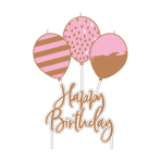 Pick Candle Rose Gold Birthday6,2 x 11,3 cm