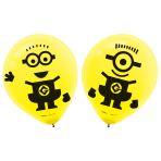 6 Latex Balloons Despicable Me Allround Printed 27.5 cm/11''