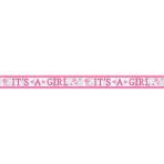 Foil Banner Baby Shower It's a Girl 762 x 12.7 cm
