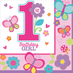16 Napkins Sweet Birthday Girl33 x 33 cm