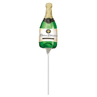 Mini Shape Bubbly Wine Bottle Foil Balloon A30 Air Filled