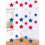 6 String Decorations USA Foil 213 cm