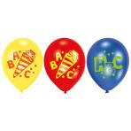 "6 Latex Balloons Back to School 22.8 cm/9"""