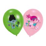 "6 Latex Balloons Trolls 27,5 cm/11"""