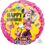 "Sing-A-Tune ""Minnie Happy Helpers"" Foil Balloon  , P75, packed, 71 x 71cm"