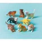 12 Toy Cats Plastic Length 4 - 6 cm