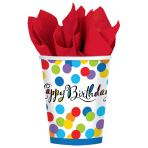 18 Cups Confetti Bash Paper 266 ml