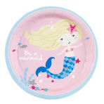 8 Plates Be a Mermaid 18cm