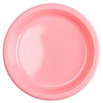 10 Plates Plastic Pretty Pink 22.8 cm