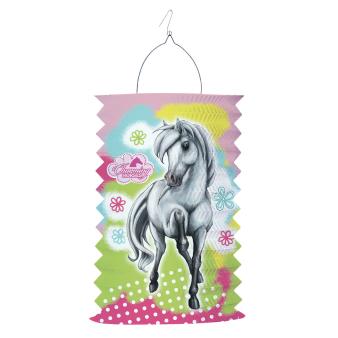 Drop Lantern Charming Horses 2 Paper 28 cm