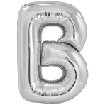 Large Letter B SilverFoil Balloon N34 Packaged 86 cm