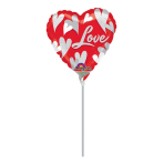 9'' Swirl hearts Love Foil Balloon A10 airfilled