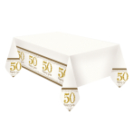Tablecover Gold Anniversaries Plastic 120 x 180 cm