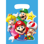 8 Party Bags Super Mario Plastic 23.4 x 16.2 cm