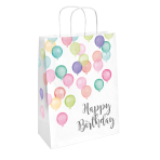 2 Paper Bags Happy Birthday Pastel 31.5 x 13.1 cm