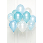 DIY Balloon Bouquet Blue 10 Balloons