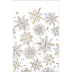 Tablecover Shining Snow Paper 259 x 137 cm