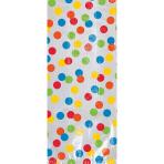 20 Party Bags Birthday Accessories - Primary Rainbow Plastic 22.8 x 10.1 x 5.7 cm