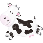 SuperShape Cow Foil Balloon P35 Packaged
