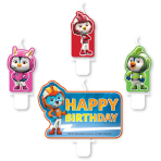 4 Mini Character Candles Top Wing Height 5.5 / 6.4 cm