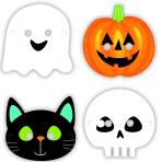 8 Masks Halloween Friends Paper 16 x 23 cm