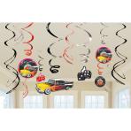 12 Swirl Decorations Classic 50's 61 cm