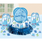 Table Decoration Kit Shower With Love - Boy 23 Pieces