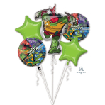 Bouquet Rise Of The TMNT Foil Balloons P75 Packaged