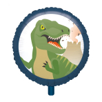 "Standard ""Happy Dinosaur"" Foil Balloon Round, S40, packed, 43 cm"