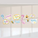 12 Cutouts What Will It Bee? Paper 27.9 cm / 22.8 cm / 17.7 cm