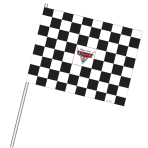 4 Checkered Flags Disney Cars