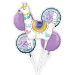Bouquet Llama Fun Foil Balloon P75 Packaged