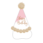 Party Hat Rose Gold Birthday  Height 20 cm
