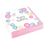 20 Napkins Happy Birthday Pastel 25 x 25 cm