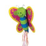 Pull Pinata Butterfly Paper / Plastic 53.3 x 53.3 x 16.5 cm