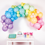 DIY Garland Pastel Rainbow 78 Balloons 4 m