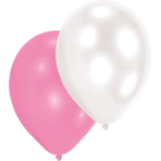 10 Latex Balloons Pearl White / Pink / Purple 27.5 cm / 11""
