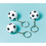 12 Key Chains Championship Soccer