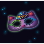 Glow Stick Mask Cat Plastic 19 x 10 cm