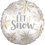 Standard Shining Snow Satin Foil Balloon, S40 packaged