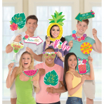 Photo Booth Kit Aloha Jumbo Paper / Plastic 12 Pieces 36.8 x 43.1 cm