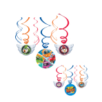 6 Swirl Decorations Top Wing Foil / Paper 61 cm