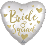 Standard Satin Bride Squad Foil Balloon S40 Packaged