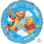 "Standard HX ""Pooh It's a Boy"" Foil Balloon, S60, packaged, 45 cm"