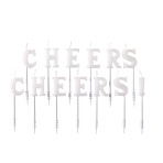 13 Letter Candles Cheers Cheers! Height 7.5 cm