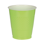 50 Cups Kiwi Green Plastic 473 ml