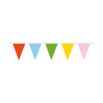 Pennant Banner Multicoloured Plastic 1000 x 32 cm