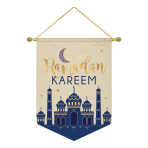 Hanging Sign Eid Ramadan Kareem Fabric 27.9 x 38.1 cm