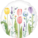 Standard Tulip Garden Foil Balloon S40 packaged