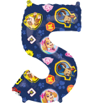Mid Size Paw Patrol Number 5 Foil Balloon L27 Packaged 45cm x 66cm